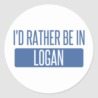 I'd rather be in Logan Classic Round Sticker