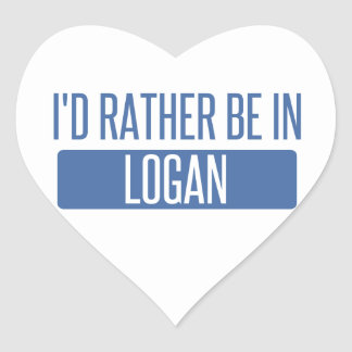 I'd rather be in Logan Heart Sticker