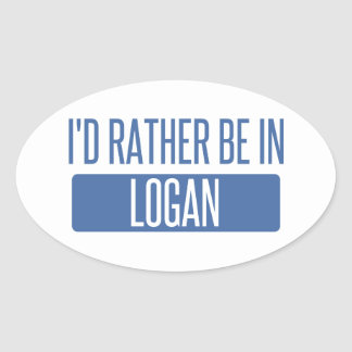 I'd rather be in Logan Oval Sticker