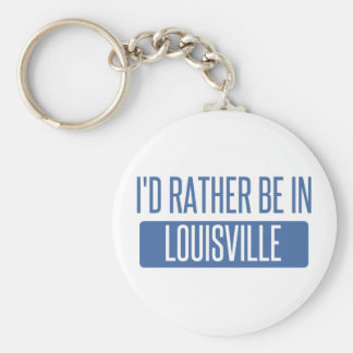 I'd rather be in Louisville Basic Round Button Keychain