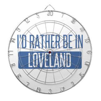 I'd rather be in Loveland Dartboard