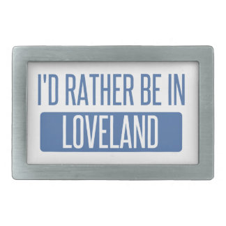 I'd rather be in Loveland Rectangular Belt Buckle