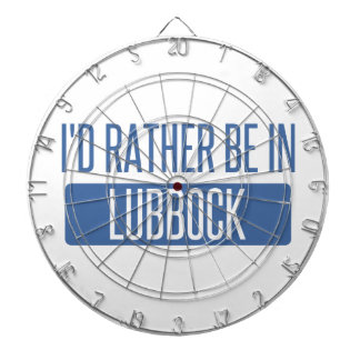 I'd rather be in Lubbock Dartboard