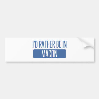 I'd rather be in Macon Bumper Sticker