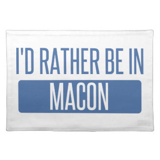 I'd rather be in Macon Placemat