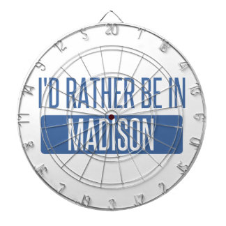 I'd rather be in Madison AL Dartboard