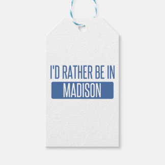 I'd rather be in Madison WI Pack Of Gift Tags