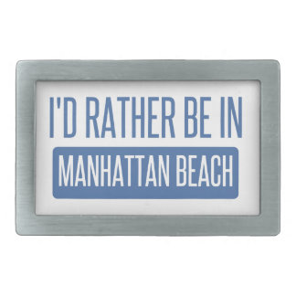 I'd rather be in Manhattan Beach Belt Buckle