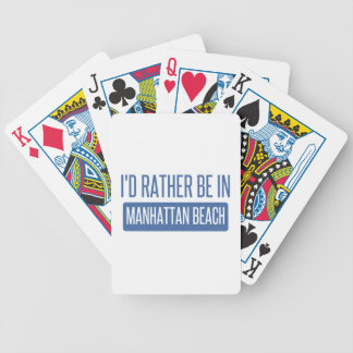 I'd rather be in Manhattan Beach Bicycle Playing Cards