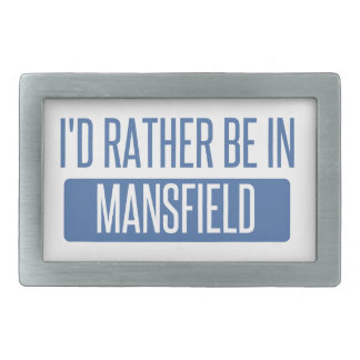 I'd rather be in Mansfield OH Rectangular Belt Buckles