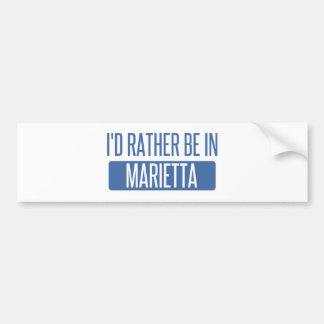 I'd rather be in Marietta Bumper Sticker