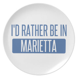 I'd rather be in Marietta Plate