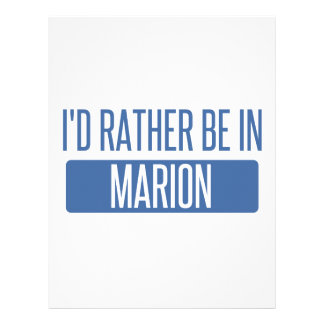 I'd rather be in Marion Letterhead