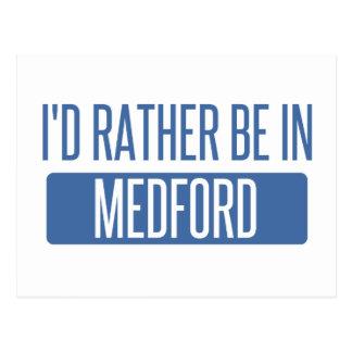 I'd rather be in Medford MA Postcard