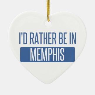 I'd rather be in Memphis Ceramic Ornament