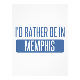 I'd rather be in Memphis Letterhead