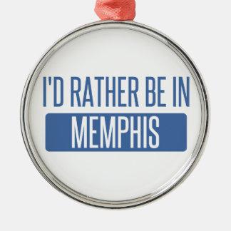 I'd rather be in Memphis Metal Ornament