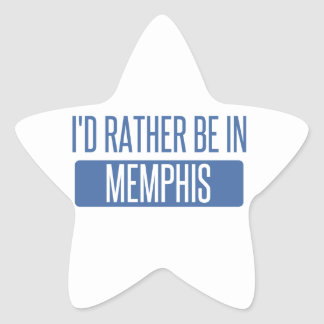I'd rather be in Memphis Star Sticker