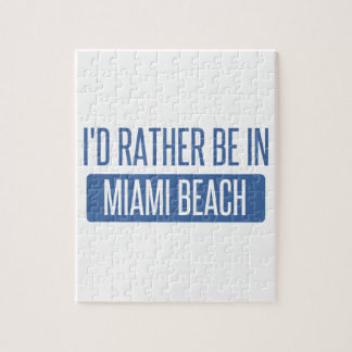 I'd rather be in Miami Beach Jigsaw Puzzle