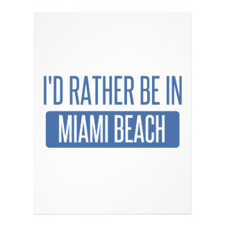 I'd rather be in Miami Beach Letterhead Template