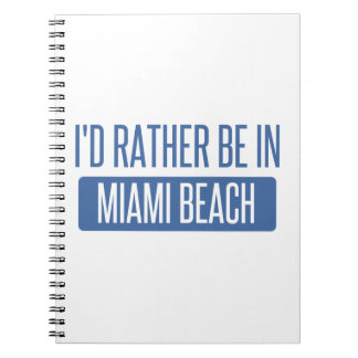 I'd rather be in Miami Beach Spiral Notebook