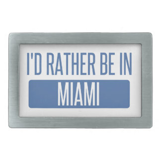 I'd rather be in Miami Belt Buckle