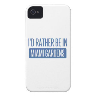 I'd rather be in Miami Gardens iPhone 4 Case-Mate Cases