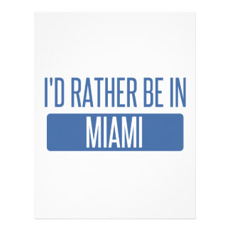 I'd rather be in Miami Letterhead