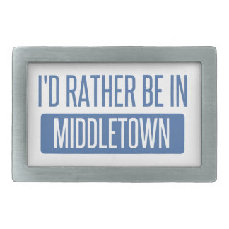 I'd rather be in Middletown OH Belt Buckle