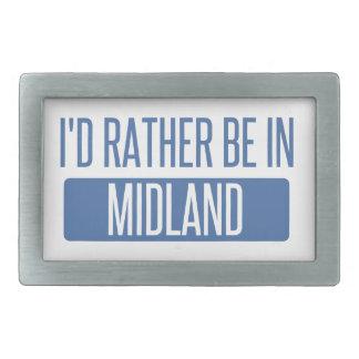 I'd rather be in Midland MI Rectangular Belt Buckles