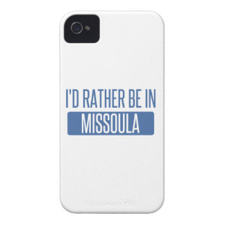 I'd rather be in Missoula iPhone 4 Covers