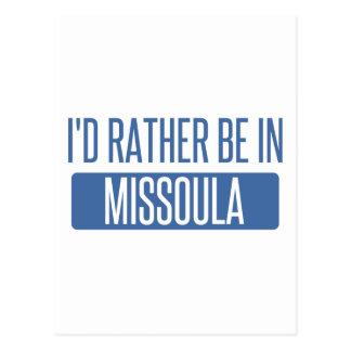 I'd rather be in Missoula Postcard