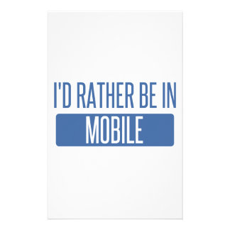 I'd rather be in Mobile Stationery