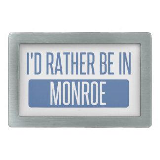 I'd rather be in Monroe Rectangular Belt Buckle