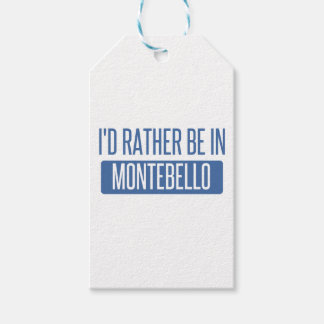 I'd rather be in Montebello Pack Of Gift Tags