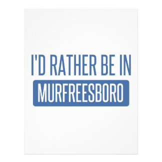 I'd rather be in Murfreesboro Letterhead