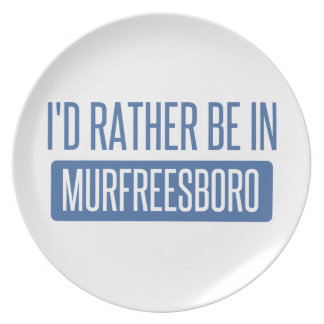 I'd rather be in Murfreesboro Plate