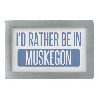 I'd rather be in Muskegon Belt Buckles