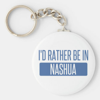 I'd rather be in Nashua Basic Round Button Keychain