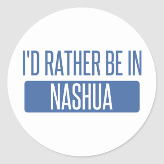 I'd rather be in Nashua Classic Round Sticker