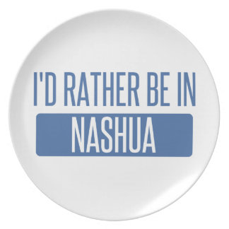 I'd rather be in Nashua Dinner Plates