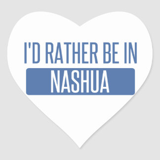 I'd rather be in Nashua Heart Sticker