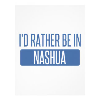 I'd rather be in Nashua Letterhead
