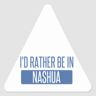 I'd rather be in Nashua Triangle Sticker