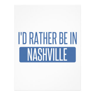 I'd rather be in Nashville Letterhead