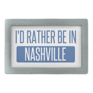 I'd rather be in Nashville Rectangular Belt Buckles