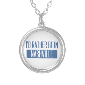 I'd rather be in Nashville Silver Plated Necklace
