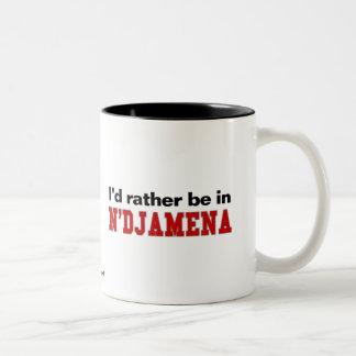 I'd Rather Be In N'Djamena Two-Tone Coffee Mug