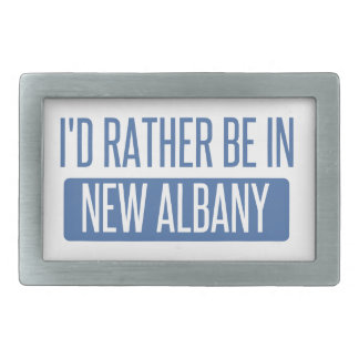 I'd rather be in New Albany Belt Buckle