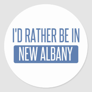 I'd rather be in New Albany Classic Round Sticker